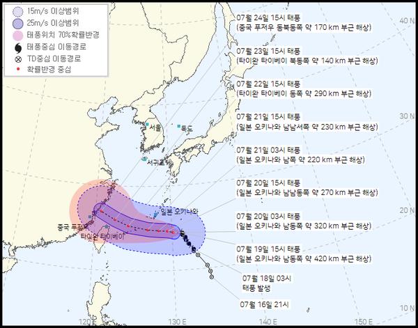 제6호 태풍 '인파' (기상청 제공)