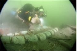 수중유물발굴모습