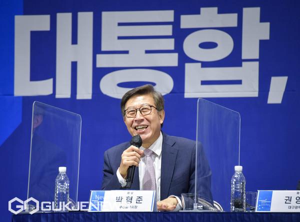 '2021 영남미래포럼' 패널 토론(박형준 부산시장) 모습/제공=부산시