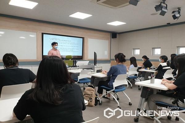 여름학기 대학연계-지역연합 공동교육과정 모습.(제공=옥천교육지원청)