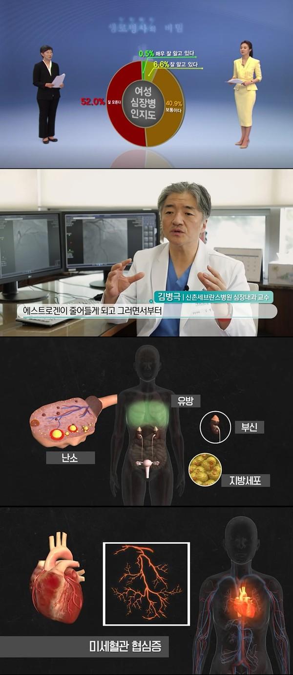 '생로병사의 비밀' 여성 심혈관질환 예방법...갱년기·폐경 증상?(사진=KBS1)