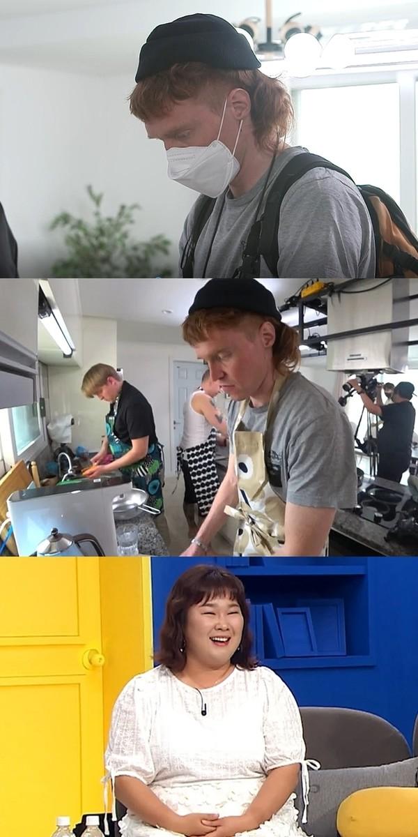 '빌푸네 밥상' 빌레, 수제 순대 만들기 돌입(사진=MBC에브리원)