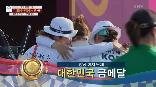 [도쿄올림픽] 25일 대한민국 메달 순위(사진=방송화면)