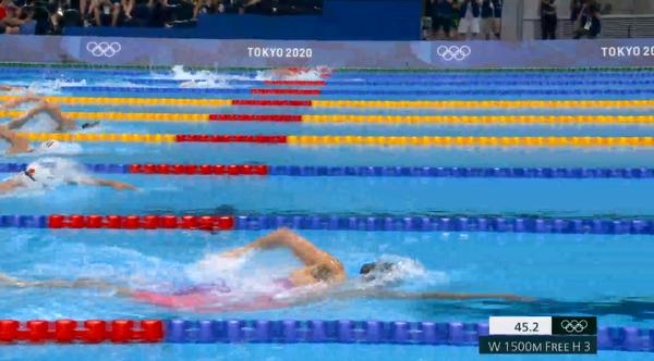 도쿄올림픽 수영 (사진-kbs 중계 캡쳐)