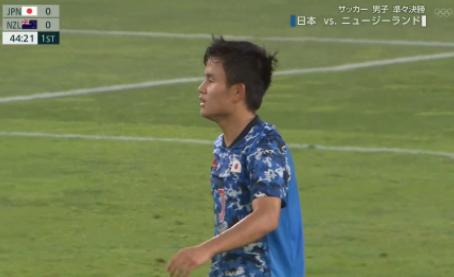 도쿄올림픽 일본 뉴질랜드 축구 중계 (사진-nhk 방송 캡쳐)