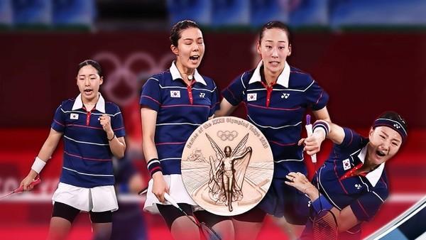 배드민턴 여자복식 동메달전 결국 한국:한국 대결(사진=SBS)