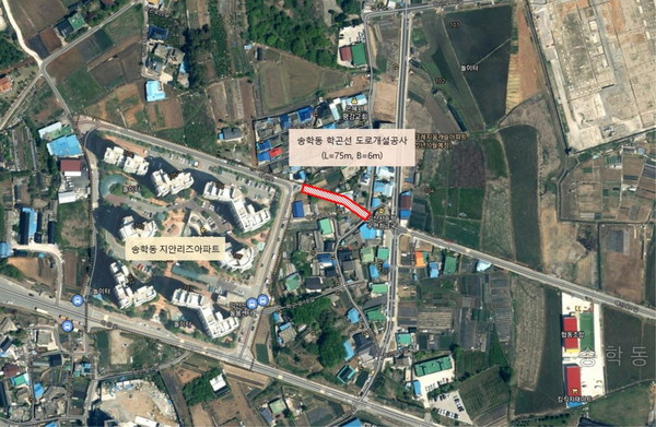 (사진=익산시) 송학동 도시계획도로 개설