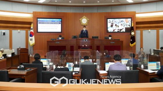 ▲ 제260회 제2차 본회의 모습.<사진=오산시의회 제공>