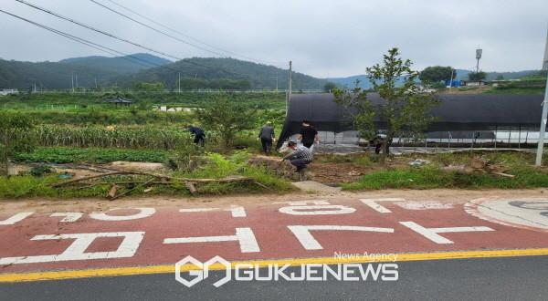 안동준법지원센터 '수해농가 긴급피해복구 지원' 봉사활동 실시