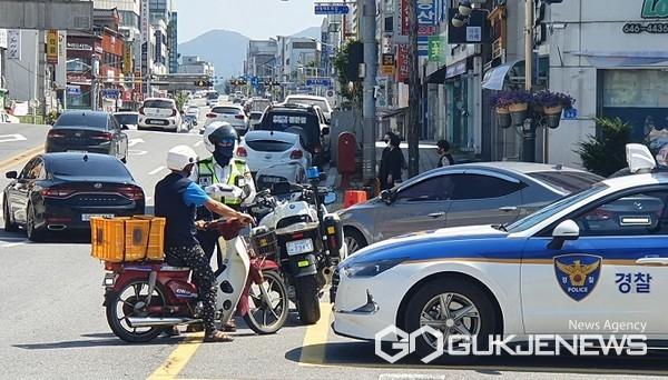 지도단속 모습(사진=제천경찰서)