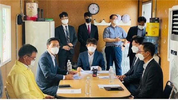 (사진제공=송석준 의원실) 송석준 의원과 이준석 대표, 쿠팡 화재 피해주민 간담회 개최