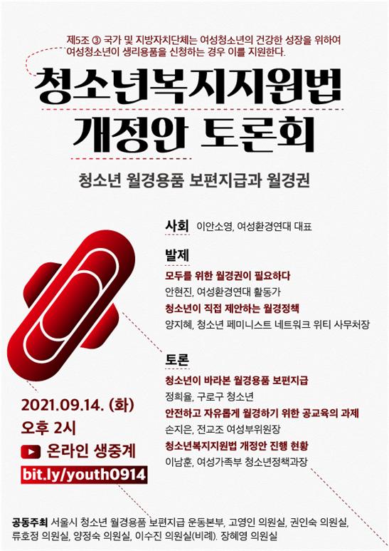 청소년복지지원법 개정안 토론회 포스터