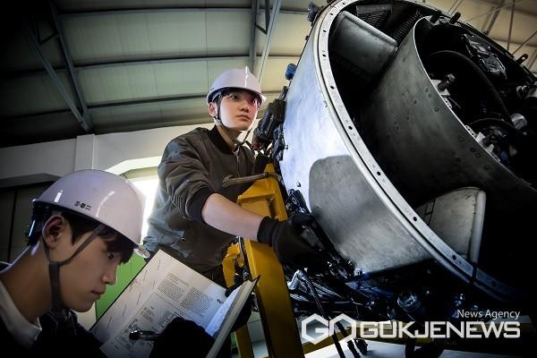 청주대학교 항공기계공학전공 실습 장면.(제공=청주대학교)