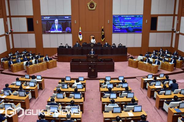 부산시의회 본회의장 전경/제공=국제뉴스/DB