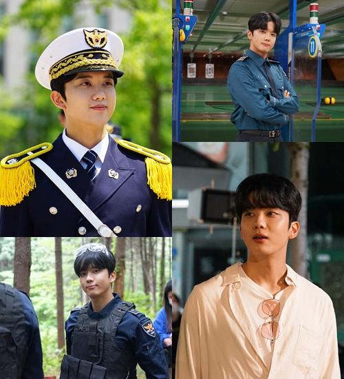 '경찰수업' 유영재, 매력만점 비하인드 컷 공개(사진=KBS2)