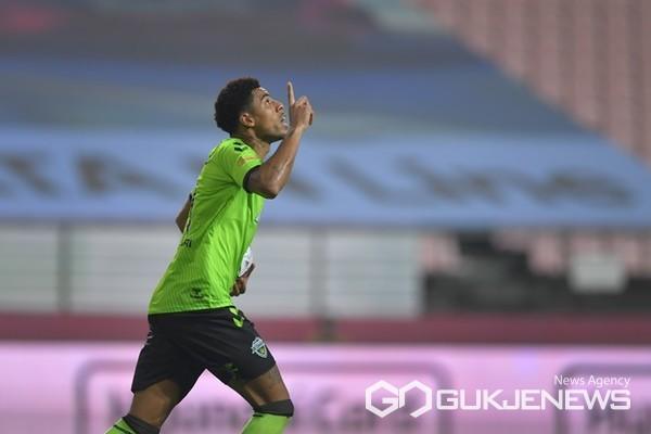 (사진제공=전북현대모터스축구단) 팀내 득점 2위인 구스타보 선수.