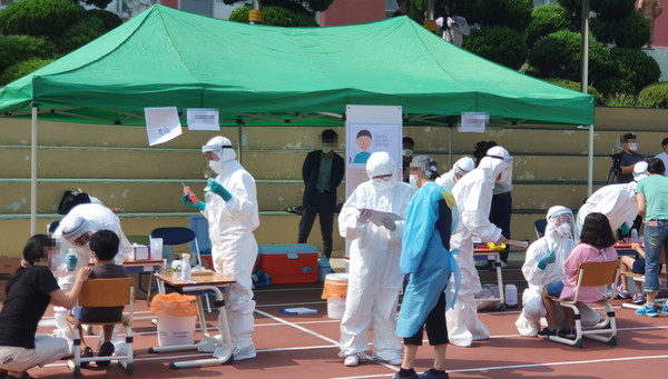 [속보]구리 코로나 확진자 5명 추가, 감염 경로 공개 (국제뉴스DB)