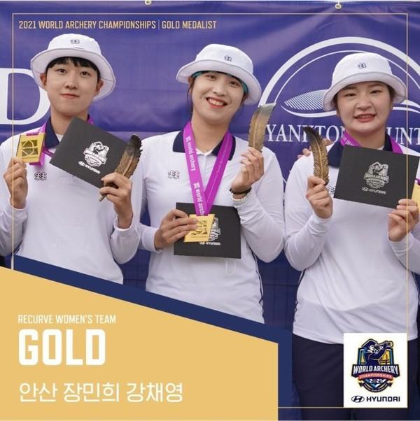 세계양궁선수권대회 안산 장민희 강채영 (사진-대한양궁협회)