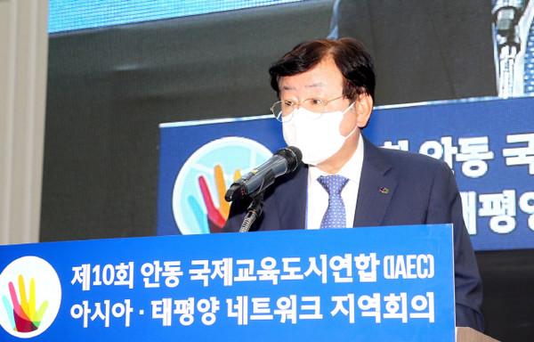 환영사 하는 권영세 경북 안동시장.(사진=안동시)