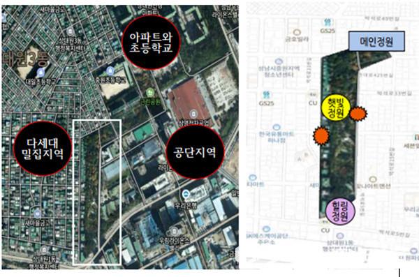 성남시 중원구 상대원1동 마을정원 조성 위치도(사진=성남시)
