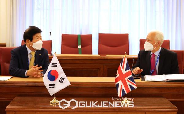 영국 존프랜시스맥폴 상원의장 양자회담