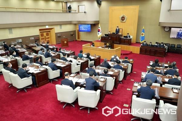 제394회 임시회 1차 본회의 모습.(제공=충북도의회)