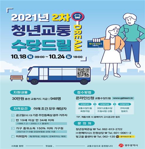 청년교통수당드림 포스터. ⓒ 광주광역시