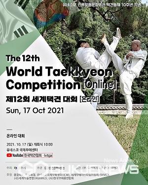 제12회 온라인 세계택견대회 포스터(사진=충주시)