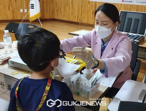 청양군 취학 전 어린이 눈 정밀검진 추진(사진=시력검사)