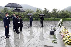 박병석 국회의장, 故 노무현 전 대통령 묘역 참배